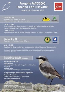Programma dell'incontro per i rilevatori - Napoli 2015